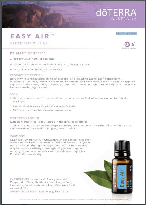 Easy Air product brochure